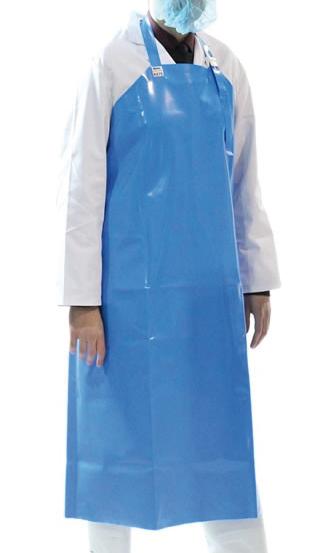 Delantal de poliuretano azul